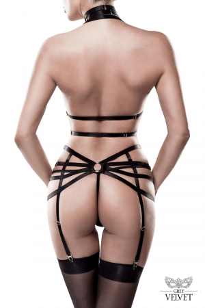 Set lingerie bdsm 3 pièces Grey Velvet
