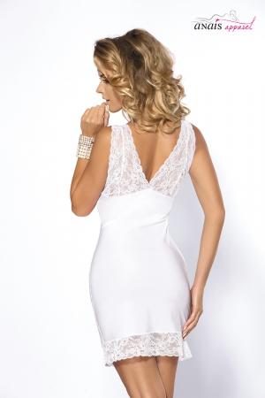 nuisette sexy blanc satin Colette lingerie anais