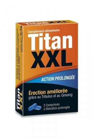 Titan XXL (2 gélules) - stimulant sexuel