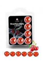 6 Brazilian Balls - cerise