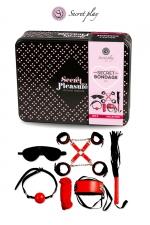 Kit BDSM 8 pièces - Rouge & Noir