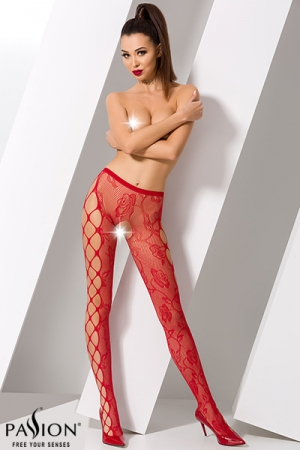 Collants ouverts S008 - Rouge