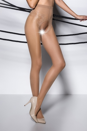 Collants ouverts TI006 - beige
