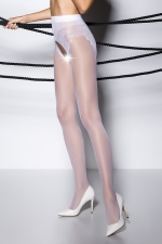Collants ouverts TI006 - blanc