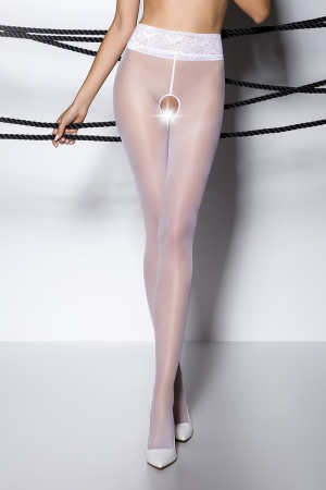 Collants ouverts TI008 - blanc