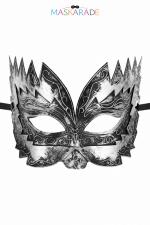 Masque semi-rigide argenté Don Giovanni