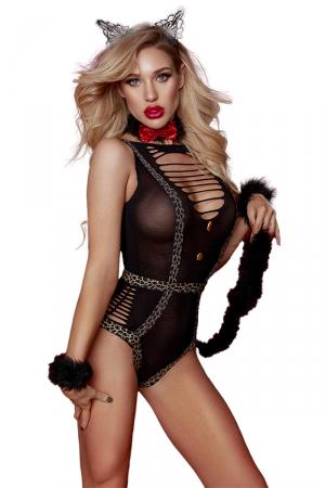 Costume sexy de Catwoman féline - Paris Hollywood