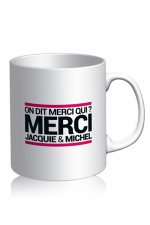 Mug Jacquie et Michel - blanc