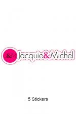 Pack 5 stickers J&M n°7
