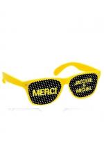 Lunettes jaune noir - Jacquie & Michel