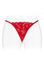 String avec perles Venusina - rouge