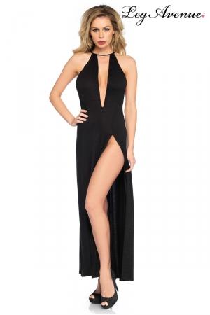 Robe longue fendue Zara