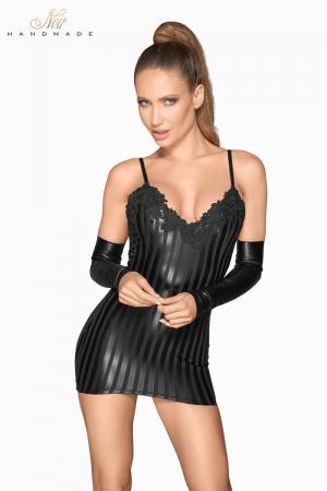 Mni robe wetlook à rayures F208