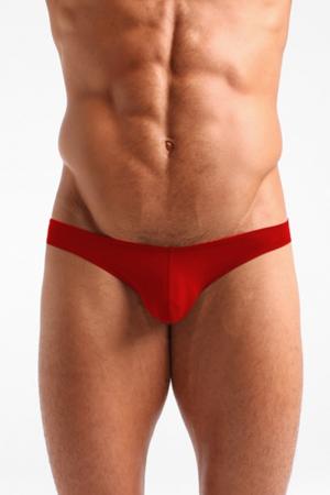 Slip rouge coton avec intimité préformée